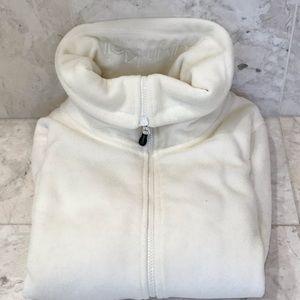 EUC Calvin Klein Full-Zip Fleece SZ M White